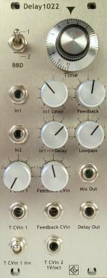 Delay1022 eurorack module, minijack version