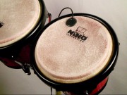 Pickup on bongo drum