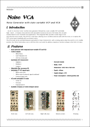 Noise VCA documentation front page
