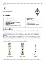 X documentation 1st page